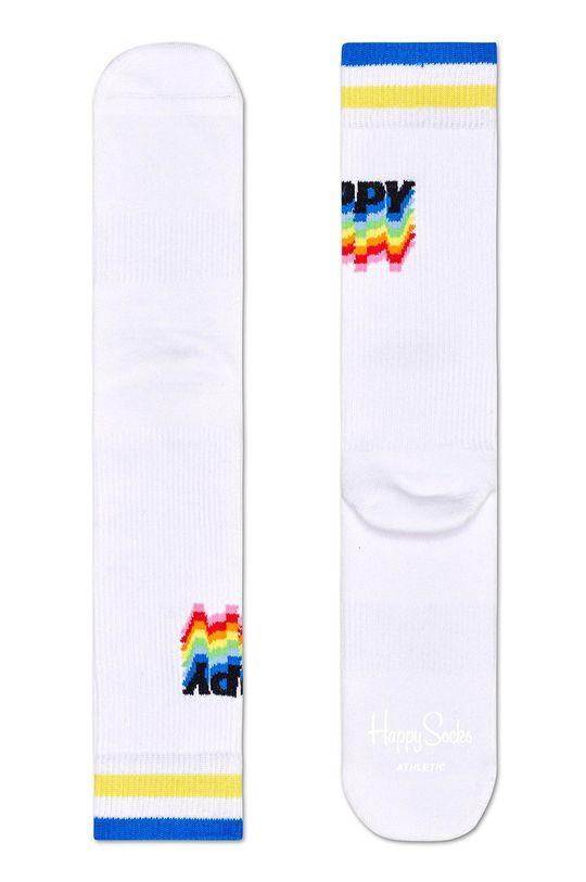 biela Happy Socks - Ponožky Athletic Sock Happy Dámsky