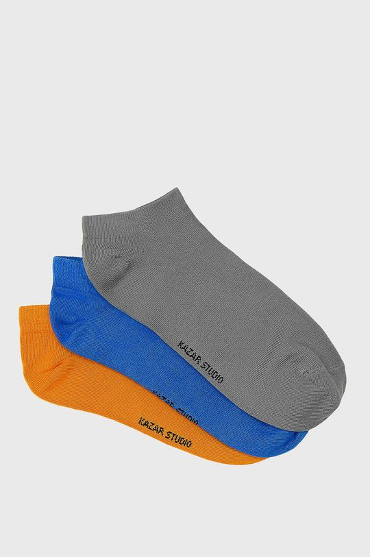 vícebarevná Kazar Studio - Kotníkové ponožky (3-pack) Pánský
