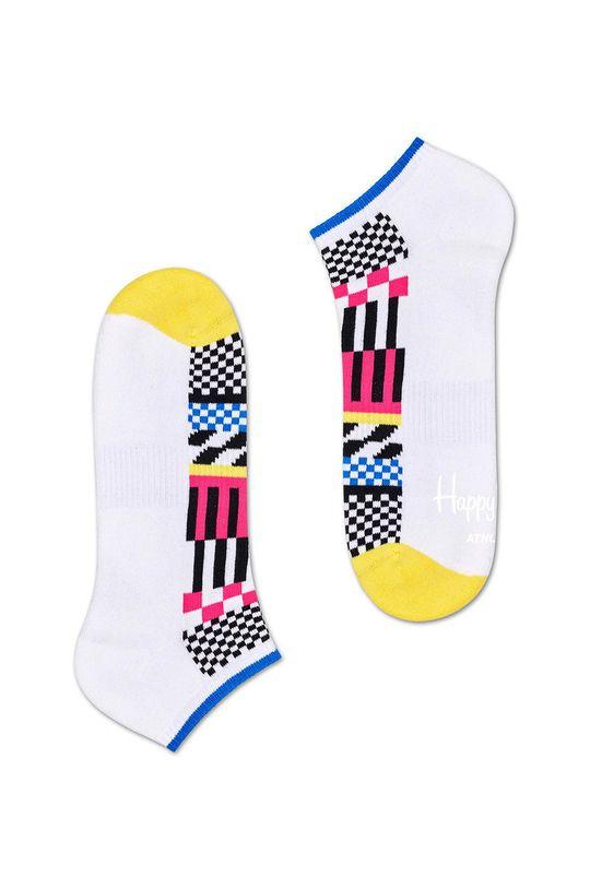 biela Happy Socks - Ponožky Athletic Low Checkered Pánsky