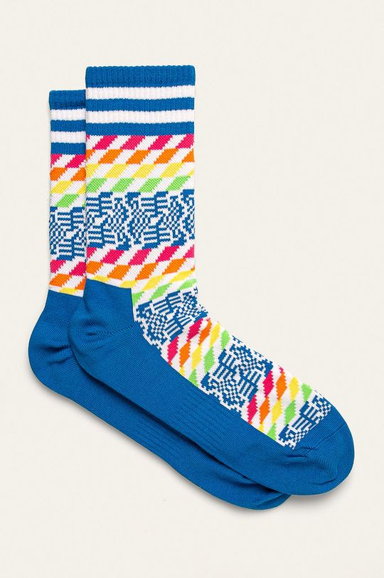 modrá Happy Socks - Ponožky Athletic 3/4 Sock Pixels Pánsky