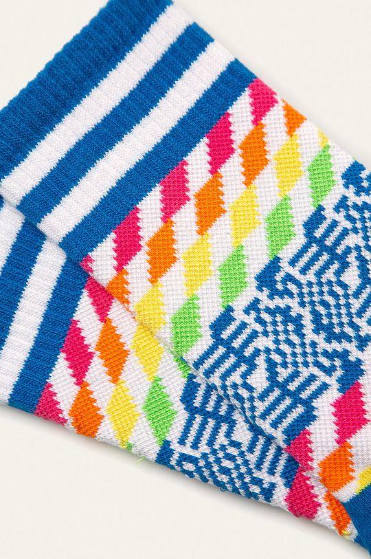 Happy Socks - Ponožky Athletic 3/4 Sock Pixels modrá