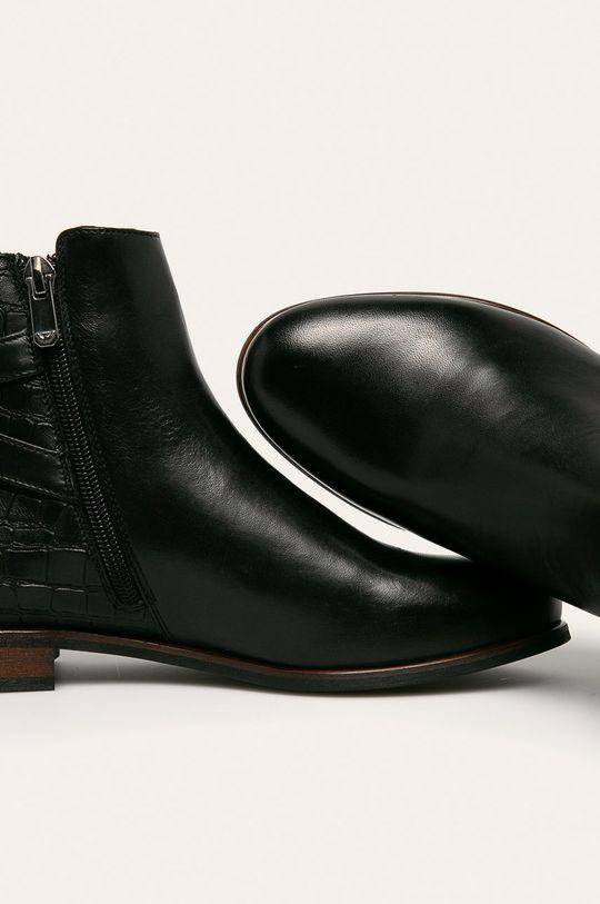 čierna Wojas - Kožené členkové topánky