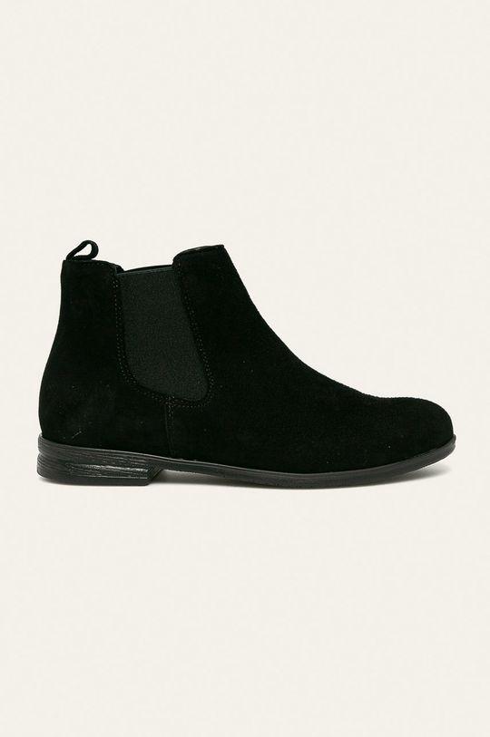 černá Wojas - Kožené boty s gumou Dámský