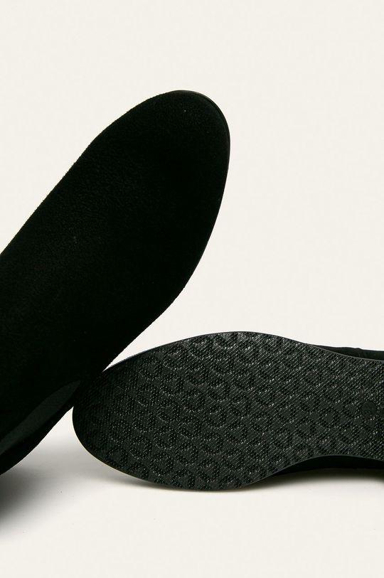 černá Wojas - Kožené boty s gumou