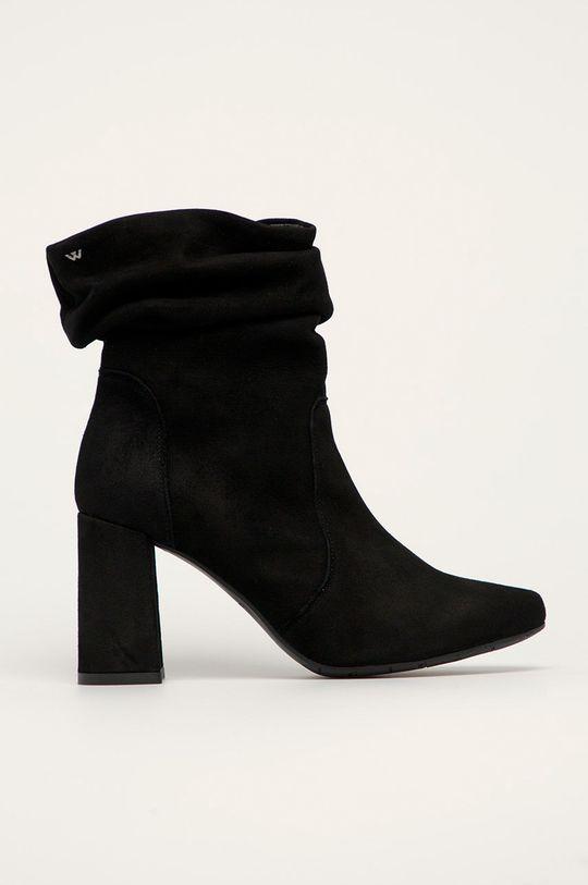 čierna Wojas - Členkové topánky Dámsky
