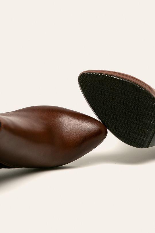 hnědá Wojas - Kožené kotníkové boty