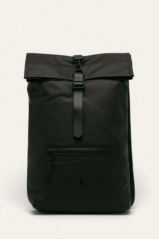 czarny Rains - Plecak 1316 Rolltop Rucksack Unisex