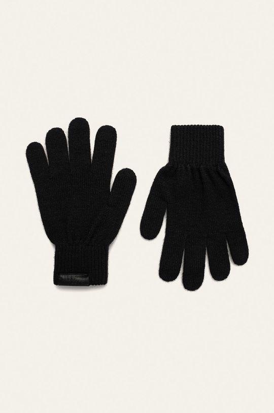 czarny Trussardi Jeans - Czapka, szalik i rękawiczki