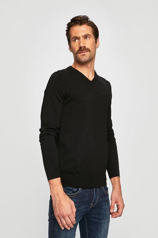 czarny Trussardi Jeans - Sweter Męski