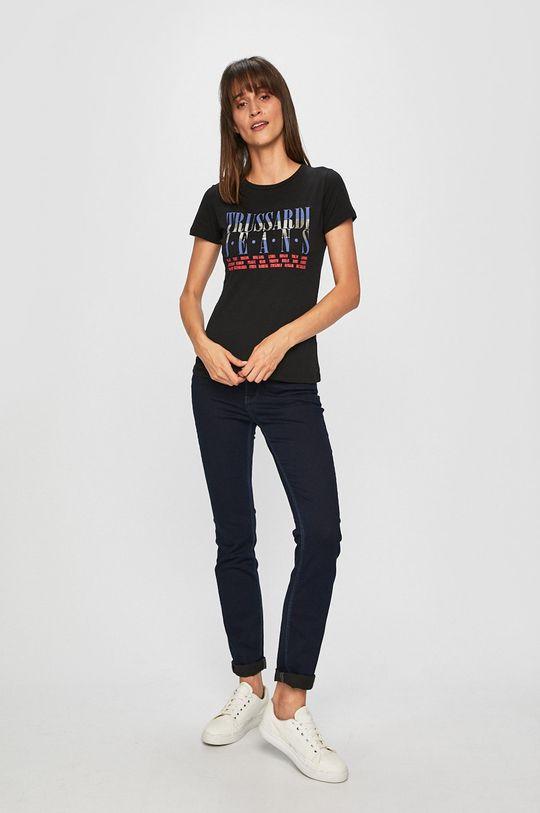 Trussardi Jeans - Tričko černá