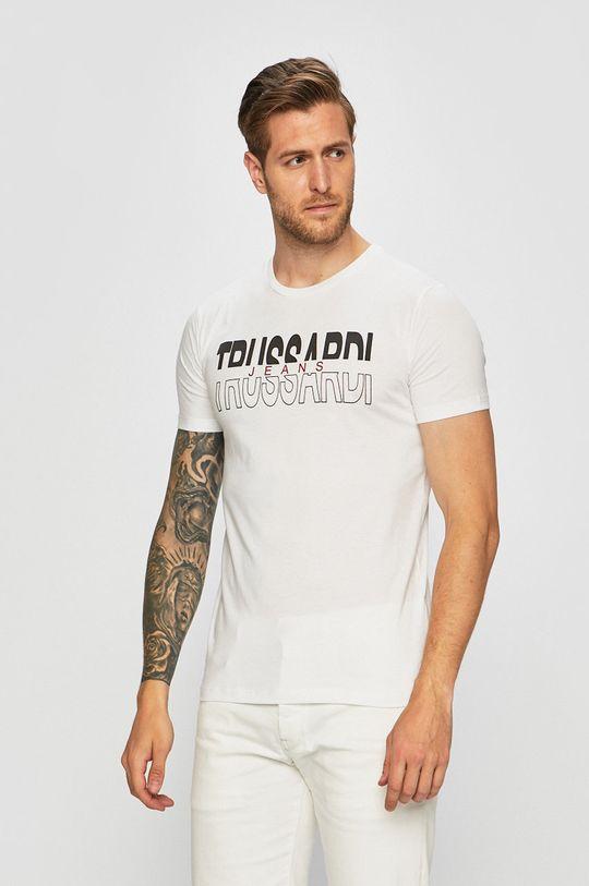 bílá Trussardi Jeans - Tričko Pánský