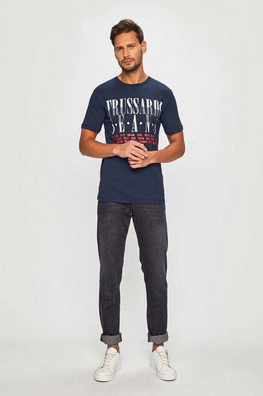Trussardi Jeans - T-shirt granatowy