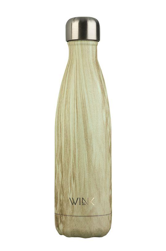 beżowy Wink Bottle - Butelka termiczna PINE WOOD Damski