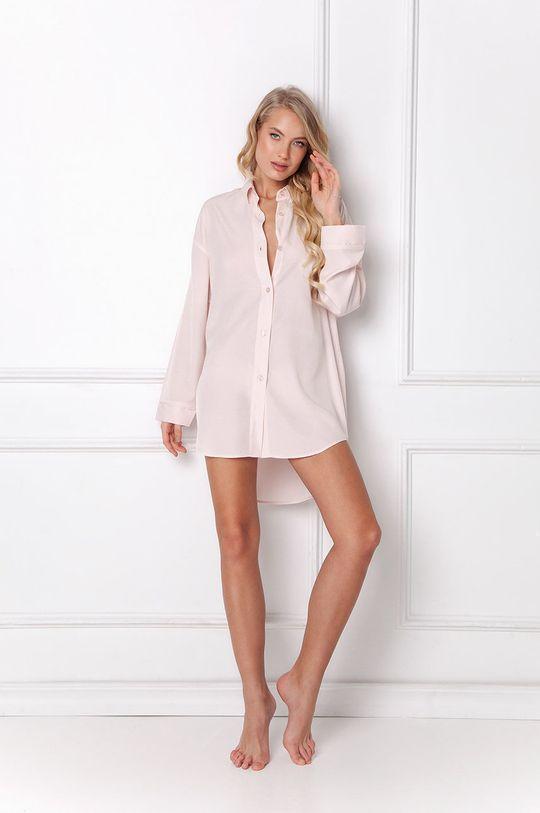 pastelowy różowy Aruelle - Koszula nocna Danielle Damski