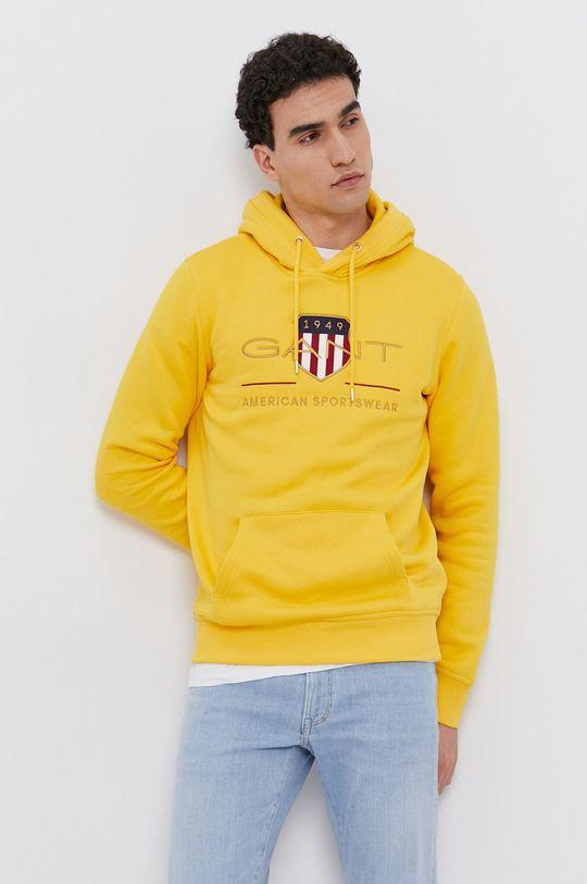 žltá Gant - Mikina Pánsky