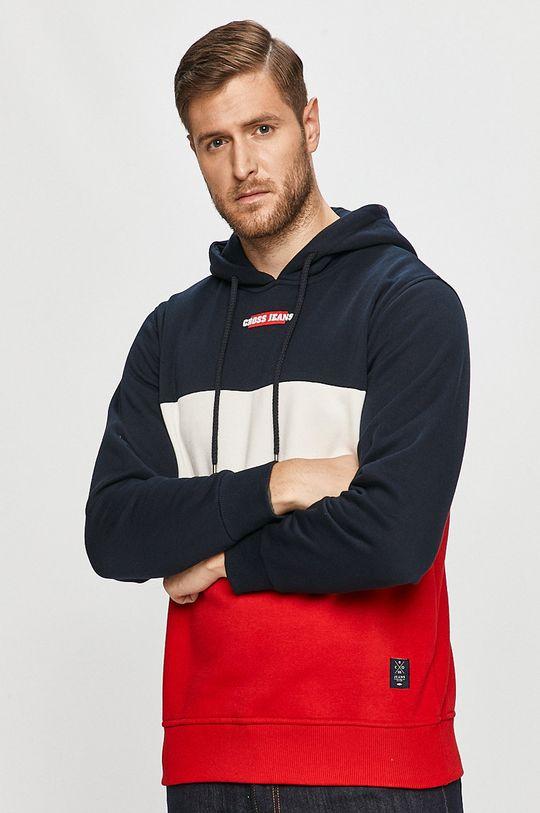 czerwony Cross Jeans - Bluza Męski