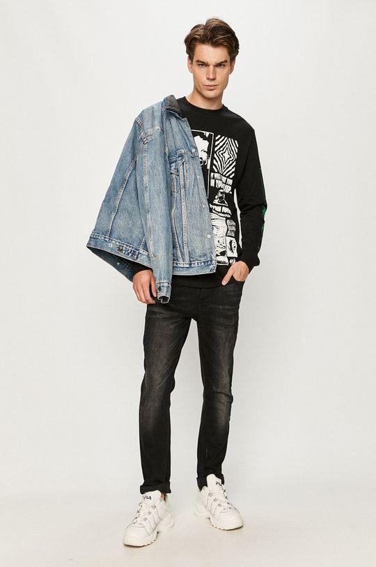 Volcom - Tričko s dlhým rukávom čierna
