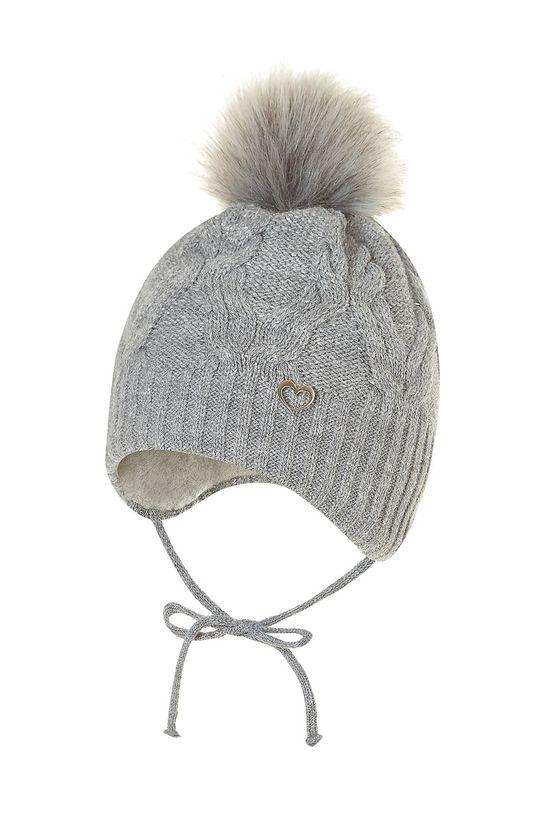 sivá Broel - Detská čiapka Dievčenský