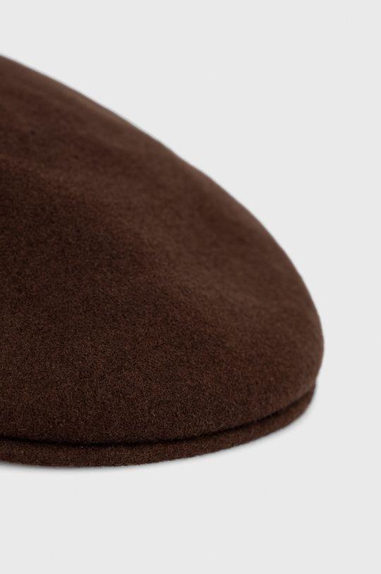Kangol - Kaszkiet wełniany brązowy