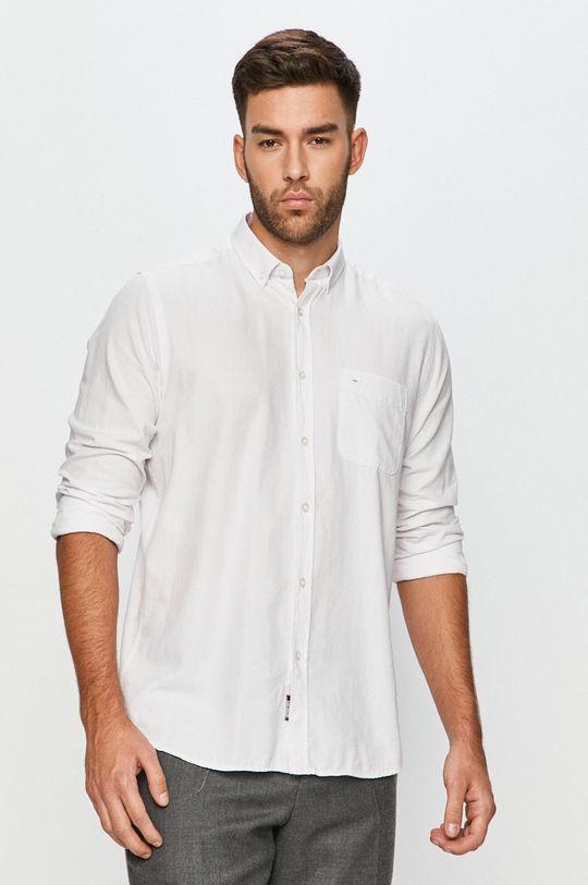 biały Cross Jeans - Koszula bawełniana Męski