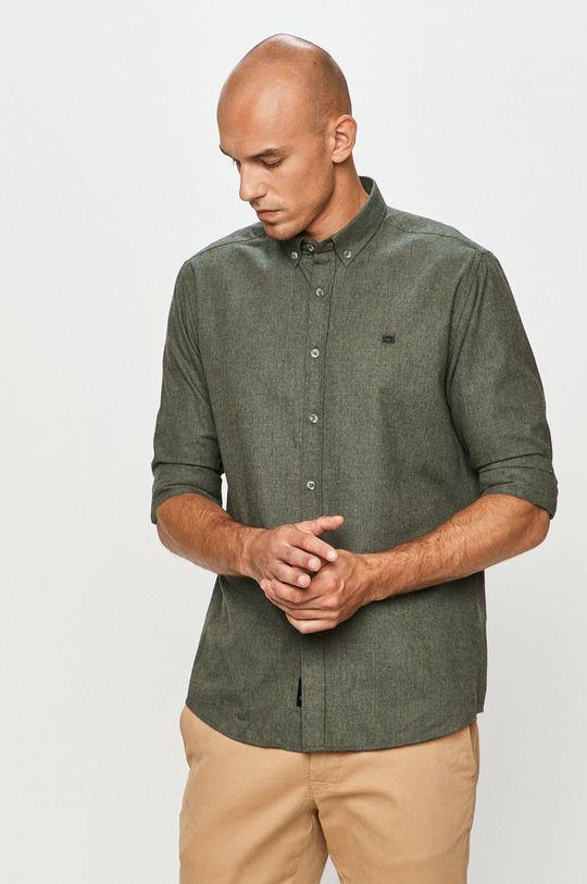 oliwkowy Cross Jeans - Koszula Męski