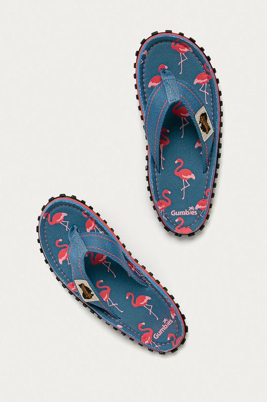 Gumbies - Žabky FLAMINGO modrá