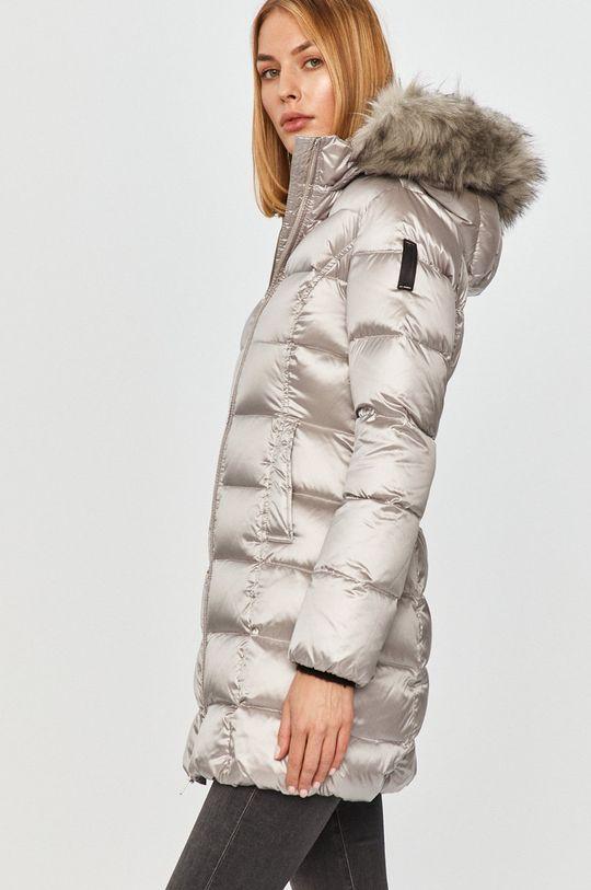 stříbrná Bomboogie - Péřová bunda