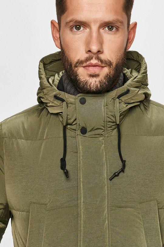 hnedo zelená Geox - Páperová bunda