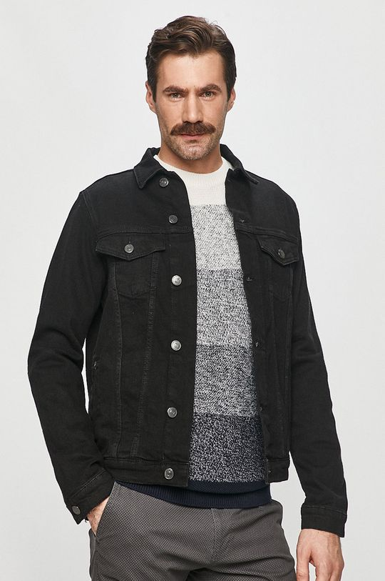 černá Cross Jeans - Džínová bunda Pánský