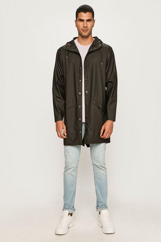 czarny Rains - Kurtka przeciwdeszczowa Long Jacket