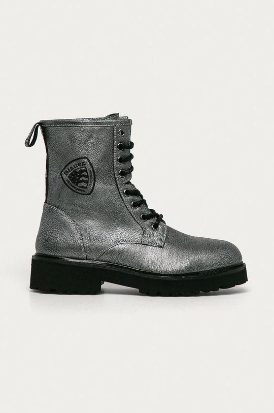 šedá Blauer - Kožené kotníkové boty Dámský