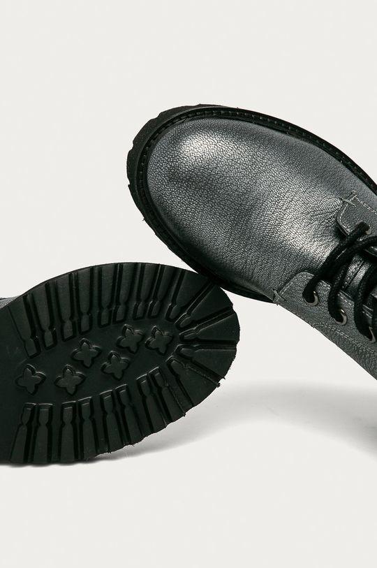 šedá Blauer - Kožené kotníkové boty