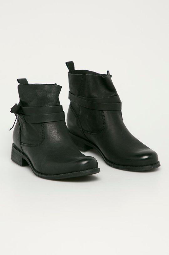 Wojas - Botki skórzane czarny