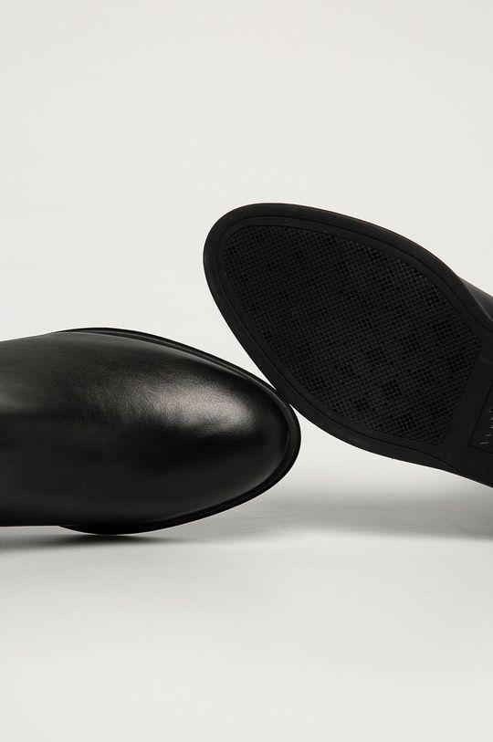 černá Wojas - Kožené kotníkové boty