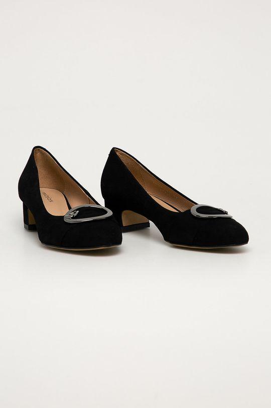 Wojas - Semišové lodičky černá