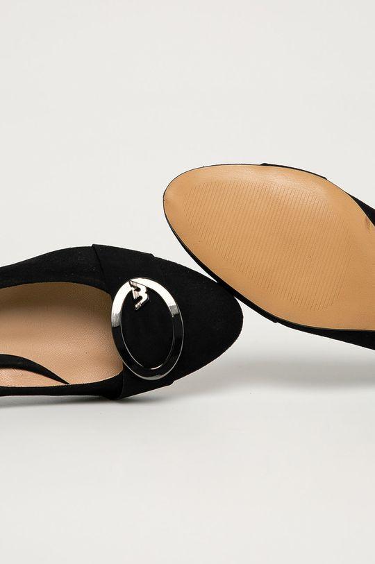 černá Wojas - Semišové lodičky