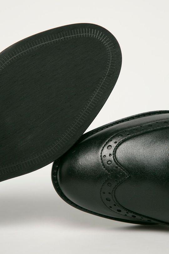 černá Wojas - Kožené polobotky