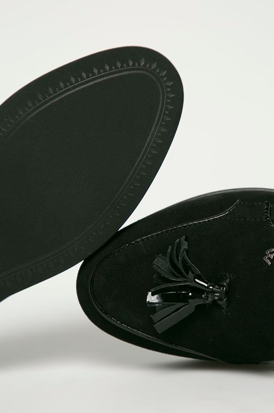 černá Wojas - Semišové mokasíny
