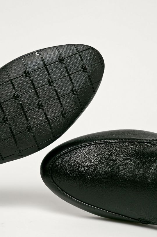 fekete Wojas - Bőr mokaszin