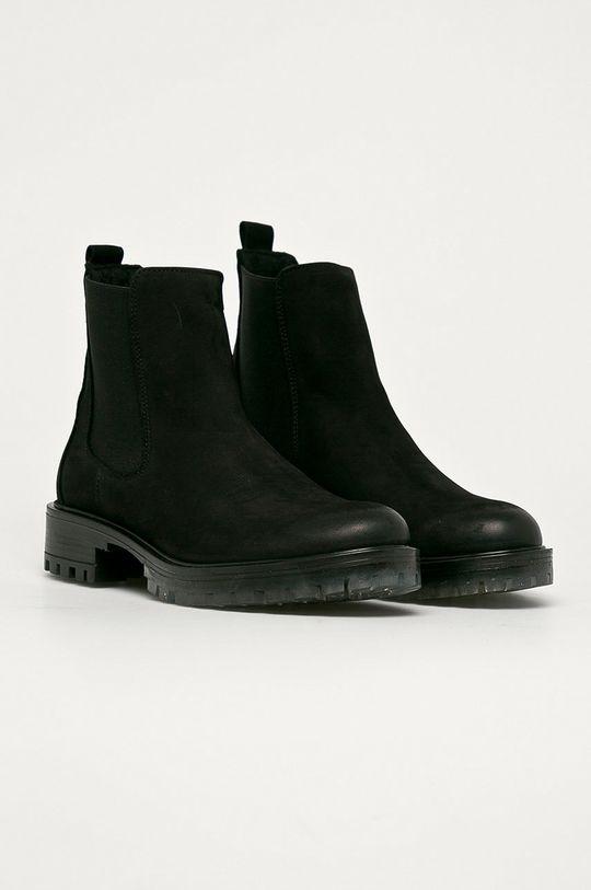 Wojas - Magascipő velúrból fekete