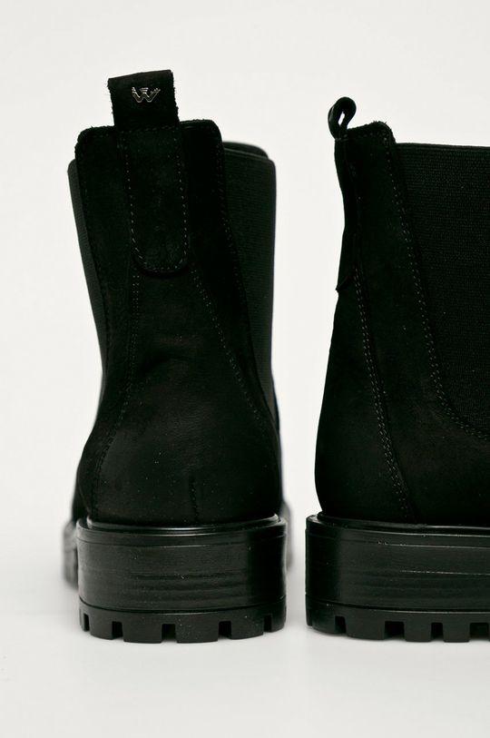 Wojas - Magascipő velúrból  Szár: szarvasbőr Belseje: textil Talp: szintetikus anyag