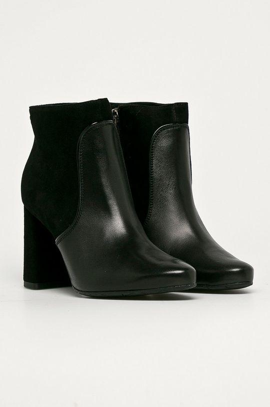 Wojas - Bőr csizma fekete