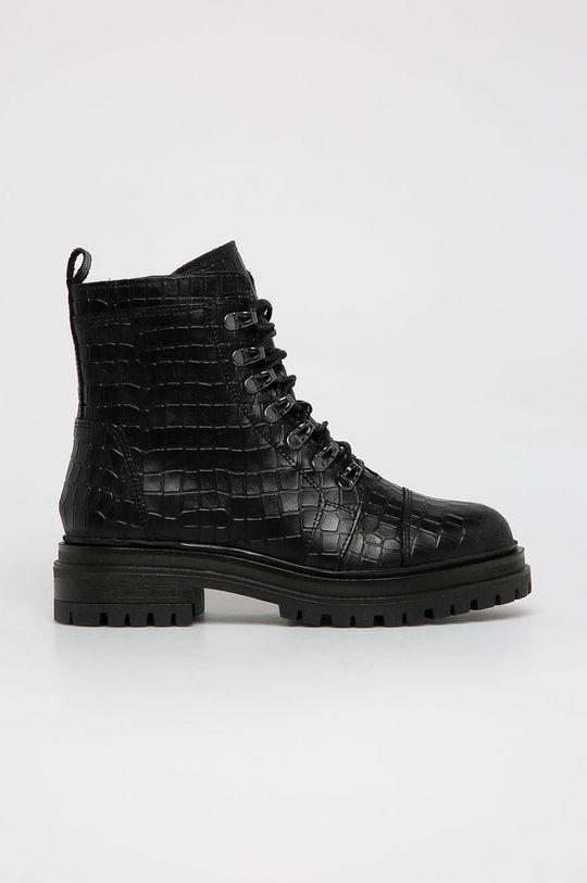 černá Wojas - Kožené farmářky Dámský