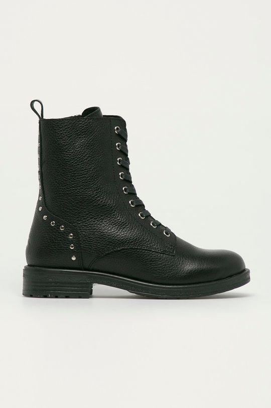 černá Kazar Studio - Kožené kotníkové boty Dámský
