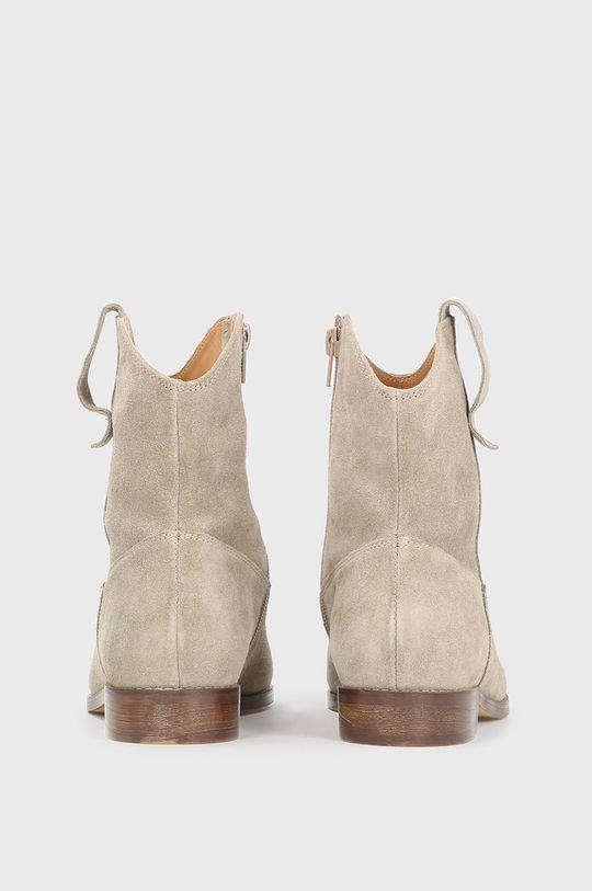 Kazar Studio - Semišové kovbojské boty  Svršek: Semišová kůže Vnitřek: Přírodní kůže
