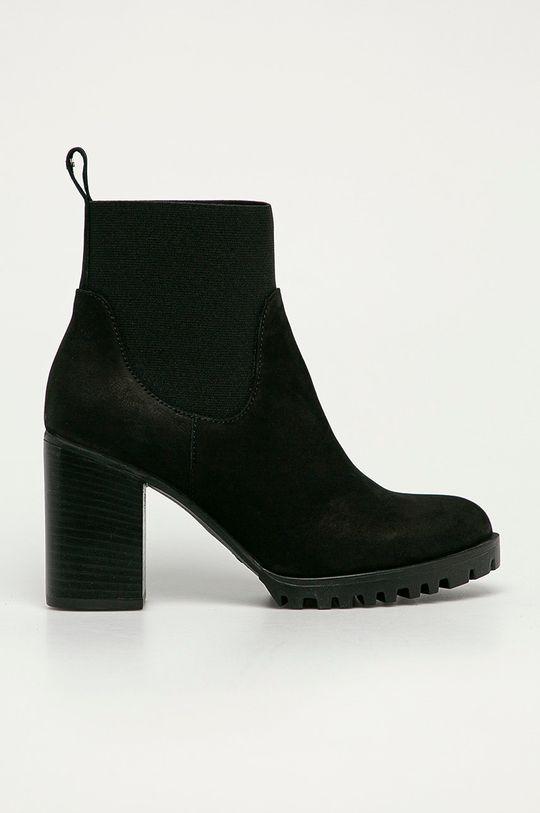 černá Wojas - Semišové kotníkové boty Dámský