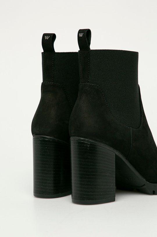 Wojas - Semišové kotníkové boty  Semišová kůže Vnitřek: Textilní materiál Podrážka: Umělá hmota