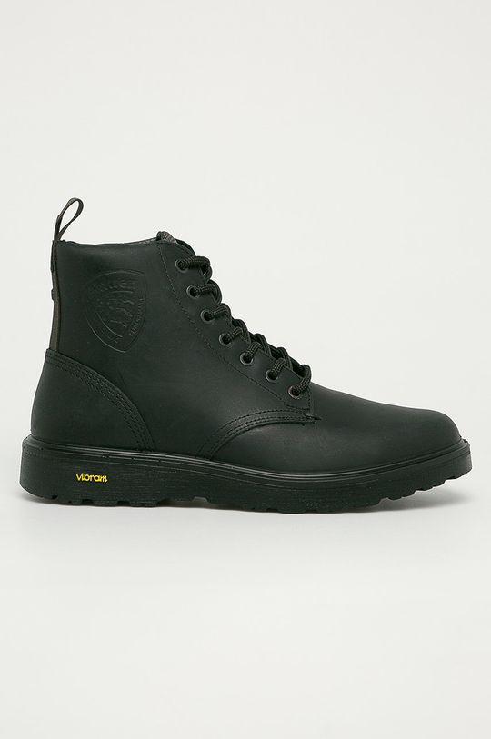 čierna Blauer - Kožená obuv Pánsky