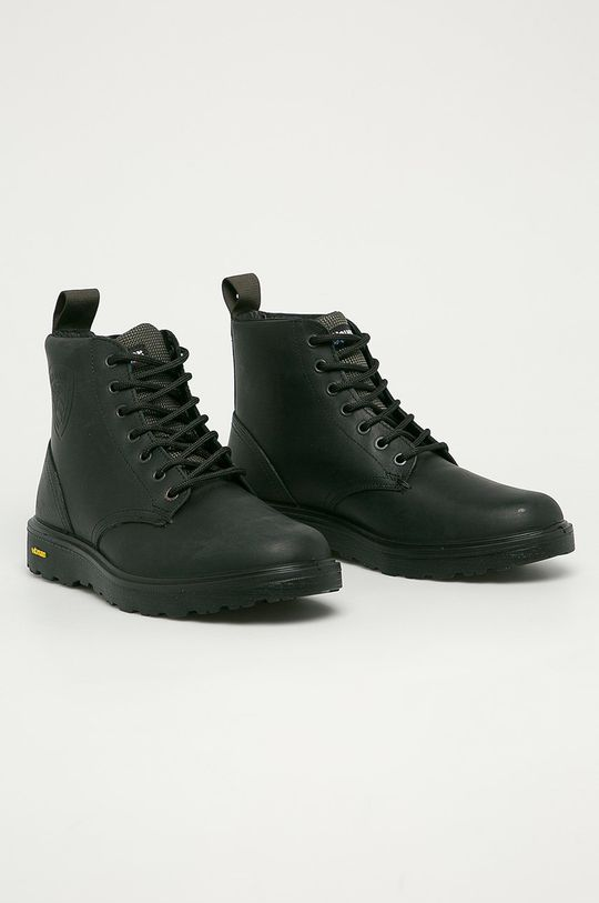 Blauer - Kožená obuv čierna