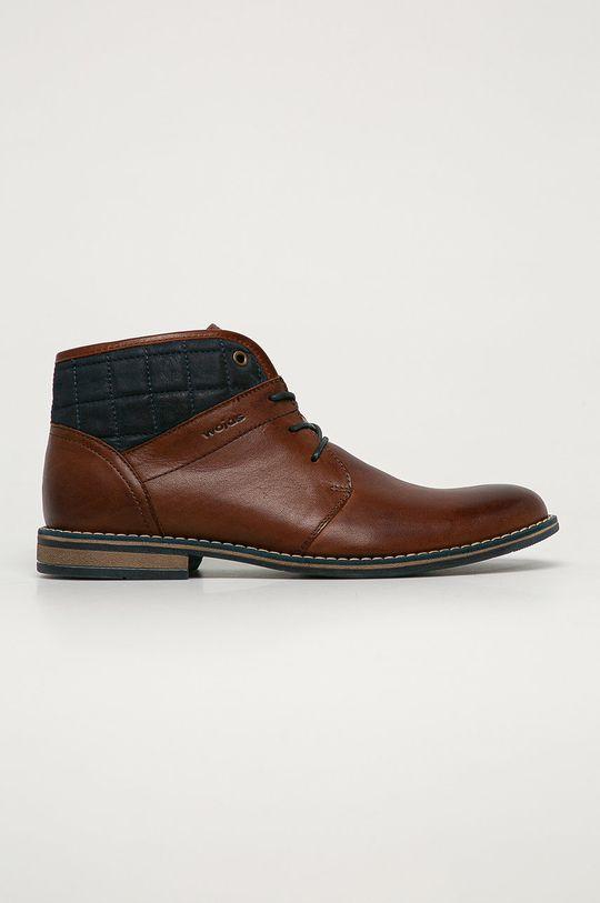 hnedá Wojas - Kožená obuv Pánsky